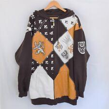 RB Brown Designer 3XL Long Sleeve Hoodie Zip up Sweatshirt Amazing Looking