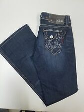 "MEK Denim Women's Los Angeles Boot Cut Dark Wash Jeans Size 28/34 Actual 32""/32"""