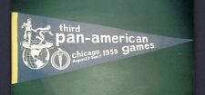 EXTREMELY RARE 1959 3rd PAN-AMERICAN GAMES pennant Cassius Clay Muhammad Ali