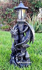 DRAGON WITH SOLAR LIGHT STATUE SOLAR DRAGON LANTERN FIGURINE