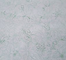 """1 yd 17"""" Mimosa Studio 8 Quilting Treasures Green Toile Flowers on White Floral"""