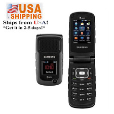 USA USPS! Samsung Rugby II A847 2MP  Flip 3G MobilePhone Unlocked Black