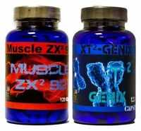 XT² GENIX Muskelaufbau extrem + MUSCLE ZX² Testosteron Booster Anabolika Ersatz