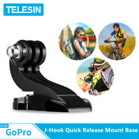 TELESIN J-Hook Buckle Vertical Quick Release Mount Base for GoPro Osmo Action