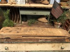 Early Antique Primitive Wooden Skinning Board With Square Nails