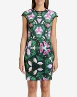 Ted Baker Friyo Floral Scuba Bodycon Wiggle Pencil Occasion Dress Size 1 UK 8
