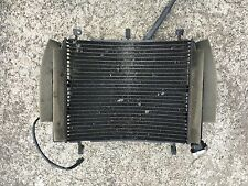 2005 05 Yamaha YZF R6 R6S Straight Radiator and Fan Cooling Fans No Damage