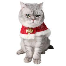 Allacki Pet Christmas Cloak Cat Adjustable Warm Xmas Costume Red Dog Scarf