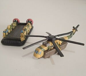 micro machines military helicopter and hovercraft 90s