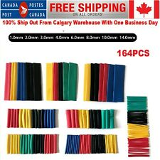164pcs Heat Shrinkable Tube Kit Assorted Polyolefin Insulation Tubing Wire Cable