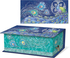 Punch Studio Green Tea Soap in Music Box, Elegant Peacock