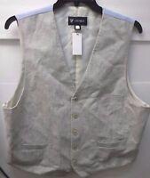 Cremieux Size Large L Beige Dress Vest New Mens