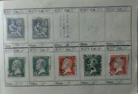 Lote 7 sellos stamp France Republica usados antiguos yvert 127,170,171...