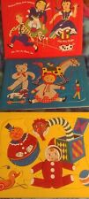 Vintage 1950-60's Children's Fuzzy Inlaid Puzzle set of 3 Nursery Rymes