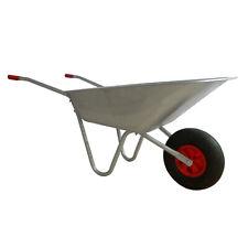 65L Wheelbarrow Heavy Duty Galvanised Home Garden Metal Cart with Pneumatic Tyre