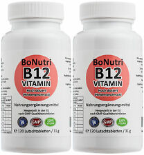 SPARPACK! 2x Vitamin B12 1.000 µg Tagesdosis 240 Lutschtabletten 8-Monatsbedarf