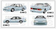 New! Collectable VL SS Group A Holden Commodore Walkinshaw Large XXL Sticker Set