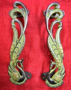 Peacock Theme Decorative Door Handle Handmade Unique Design Almirah Puller VR751