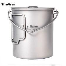 Tiartisan Titanium 750ml Camping Cookware Titanium Cookware Pot with Bail Handle