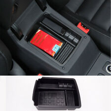 For VW GOLF 7 MK7 Center Armrest Storage Box Center Console Tray Black Durable
