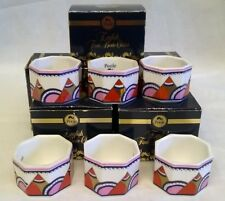 POOLE POTTERY ART DECO IONA BONE CHINA NAPKIN RINGS - SET OF 4 WITH 2 EXTRA FREE