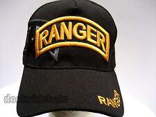 U.S ARMY RANGER Cap/Hat Black New Adjustable Military
