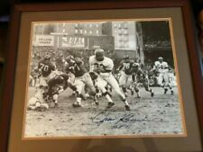 Jim Brown Signed 16x20 Photo Framed in Cherry Wood