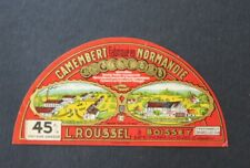 Etiquette fromage  PETIT CAMEMBERT L ROUSSEL BOISSEY  French cheese label 23