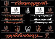 Campagnolo Bike Bicycle Frame Decals Stickers Graphic Adhesive Set Vinyl Orange