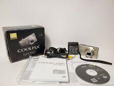 Nikon Coolpix S6000 14.2MP Digital Camera In Box NEW BATTERY