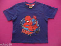 Boys Navy Blue Marvel SPIDERMAN T-shirt Sizes 4 5 6 7 8 9 & 10 years Brand new
