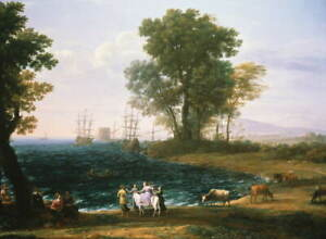 Claude Lorrain Rape of Europa Poster Reproduction Paintings Giclee Canvas Print