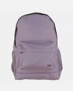 Victoria's Secret Pink Classic Backpack Bookbag Zip Pockets purple