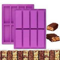 8-Cavity Silicone Rectangle Cake Mold Chocolate Baking Tray Ice Cube Soap Mould