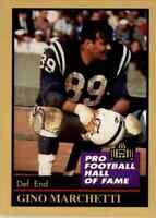 1991 Hall of Fame GOLD #92 Gino Marchetti HOF Baltimore Colts / Dallas Texans