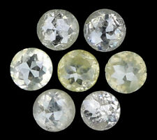 Natural Loose Diamond Round I2 Clarity Grey Yellow Color 7 Pcs 0.40 Ct N6429
