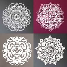 Indian Mandala Wall Sticker White Removable Decal DIY Art Window Kids Home Decor