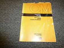 John Deere 550 Crawler Bulldozer Owner Operator Manual Omt56693