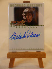 Star Trek Nemesis Romulan History autograph card Malachi Throne as Pardek RA3