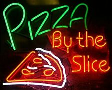 "Pizza By The Slice Neon Light Sign 32""x24"" Artwork Poster Beer Open"