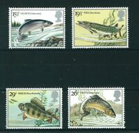GB QE II 1983 British River Fish full set of stamps. Mint. Sg 1207-1210