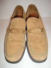 HUSH PUPPIES LIGHT BROWN SUEDE STEEL SHANK VINTAGE LOAFER MENS SHOE SIZE 7.5 M