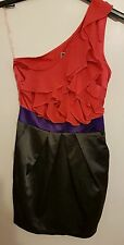 Ref 96 - LIPSY- Ladies Womens Girls One Shoulder Formal Party Dress Size 10