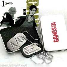 Anime Gangsta Nicolas Brown A/0 Alloy Necklace Mercenary Dog Tag Cosplay Gift