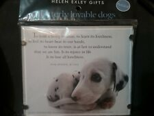 HELEN EXLEY GIFTS PLAQUE UTTERLY LOVABLE DOGS