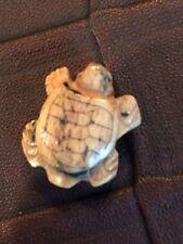 Miniature Tiny Turtle Bead Hand Carved