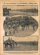 Australia & New Zealand Soldiers Salisbury Plain King George V Infantry 1916 WWI