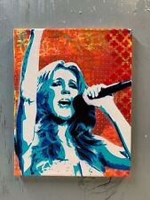 """Celine Dion 8""""x10""""x1"""" Painting on Canvas - Titanic Planet Giggles Art Diva Spray"""