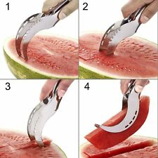 Stainless Watermelon Slicer Divider Corer Cutter Knife & Melon Scoop Fruit Tools