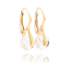 Stunning Gold Over Sterling Silver Genuine 8mm Crystals From Swarovski® Earrings